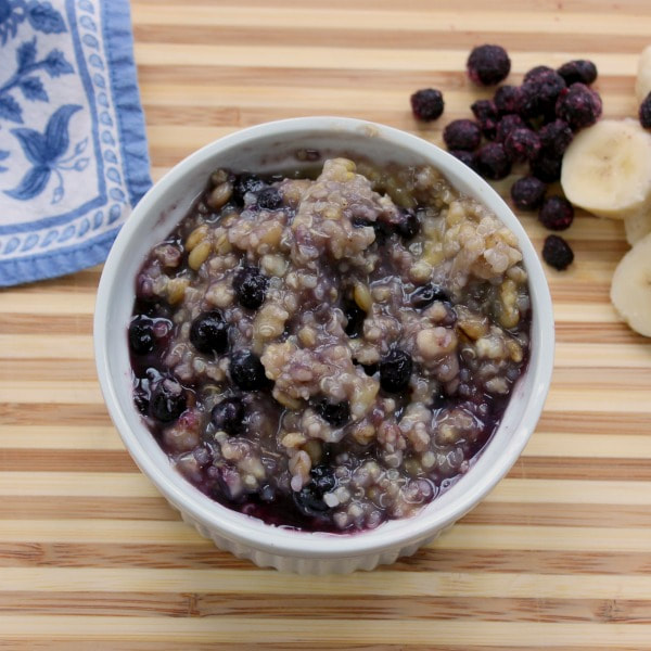 Banana Blueberry Breakfast Quinoa