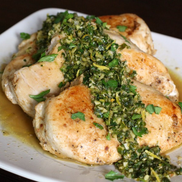 Chicken with Garlic and Parsley