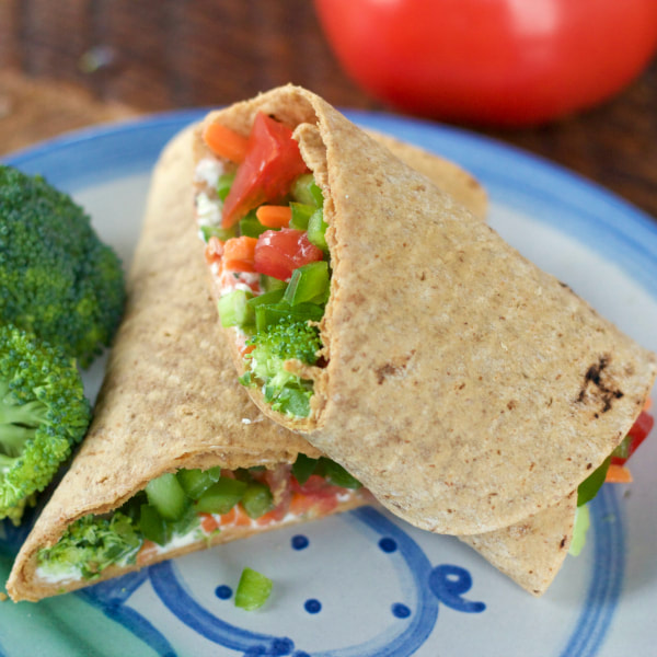 Crunchy Vegetable Wrap