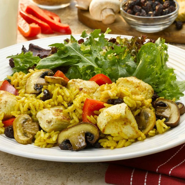 Curried Chicken with Mushrooms