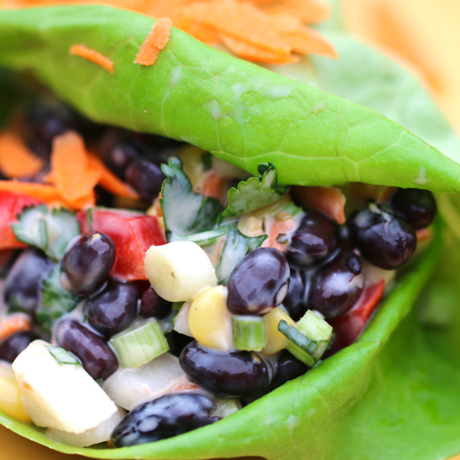 Black Bean Lettuce Wrap Picture