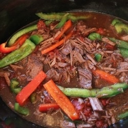 Crock Pot Steak and Peppers