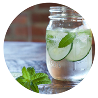 Cucumber Mint Water Picture