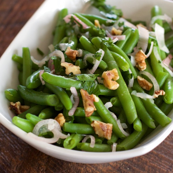 Glazed Green Beans with Shallot Relish