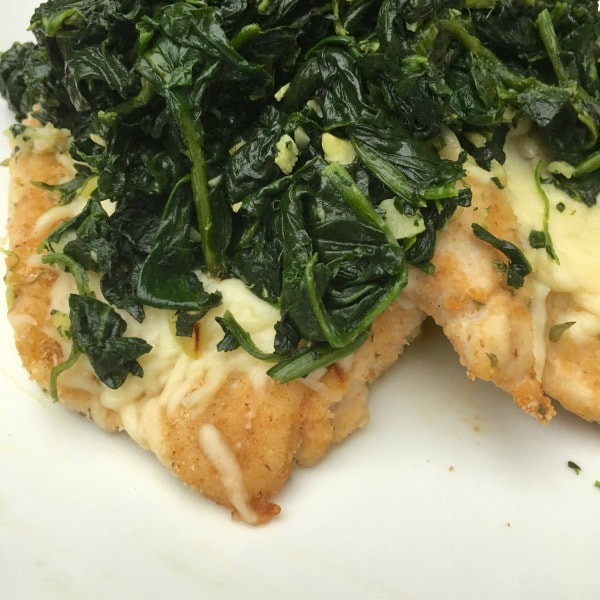 Mozzarella Chicken with Spinach