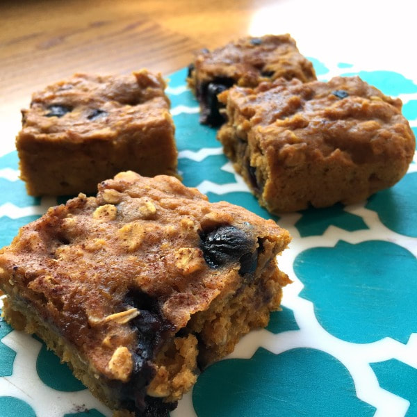 Sweet Potato Blueberry Oat Squares