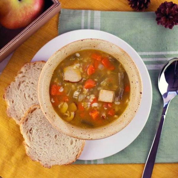Turkey Roast and Rice Soup