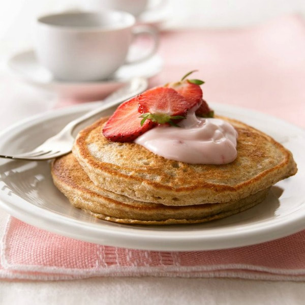 Whole Grain Strawberry Pancakes